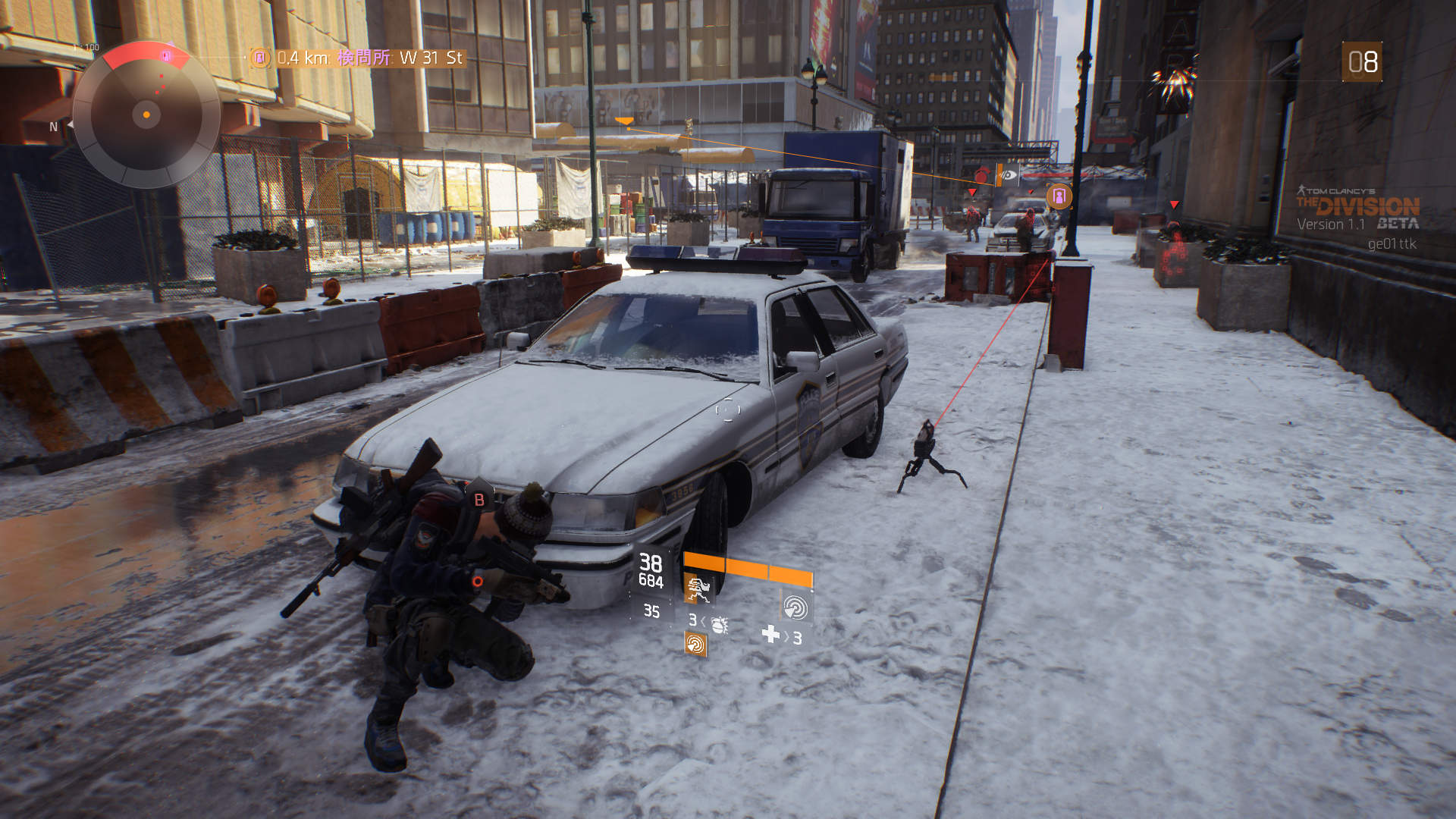 タレットは自律型兵器としてプレイヤーをサポートする