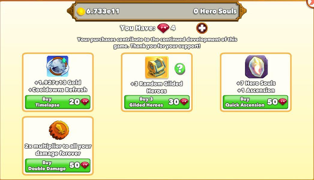 Clicker Heroes Kakin