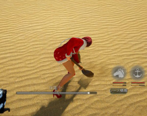砂漠で古びたシャベル