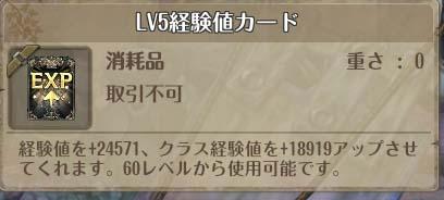 treeofsavior_LV5経験値カード