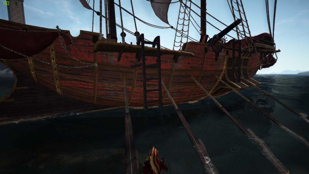 エフェリア帆船_水面から