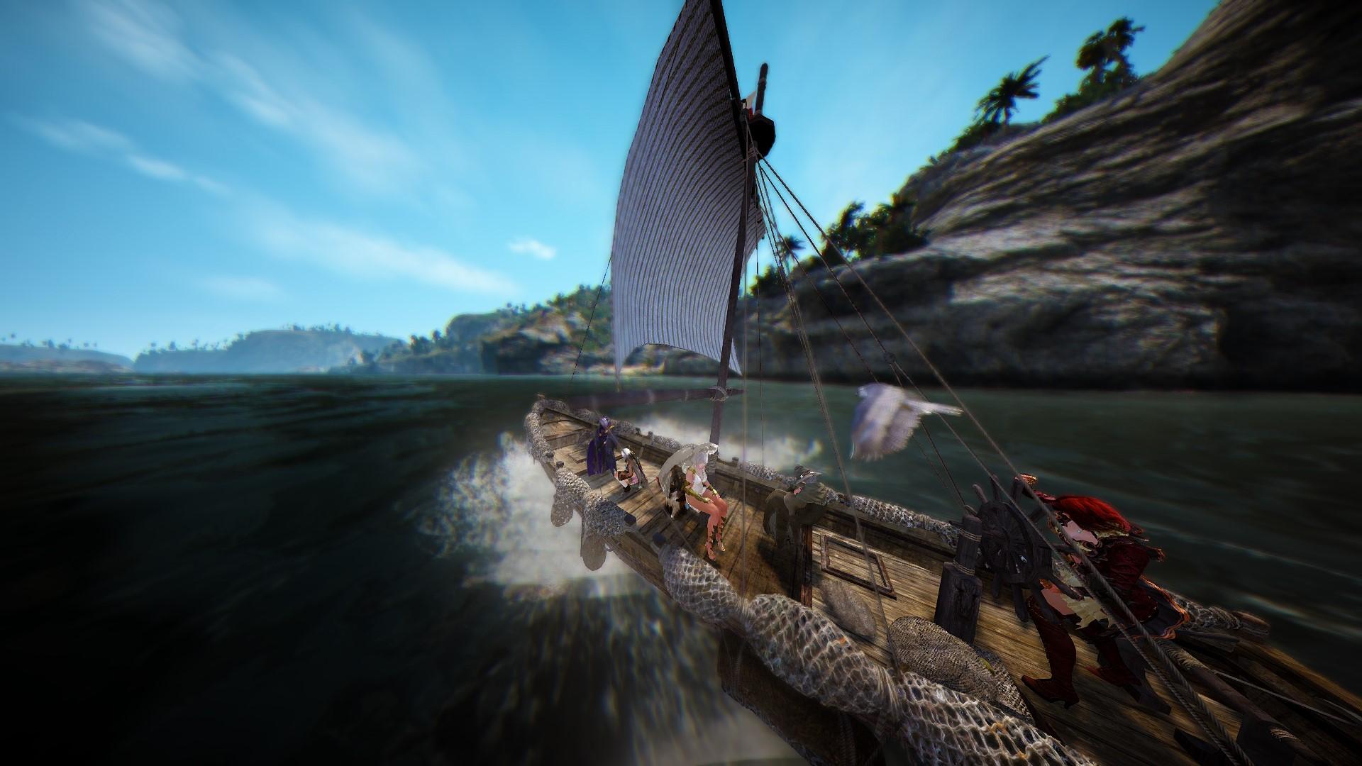 クイトゥに漁船で向かうおっさんとギルメン一行